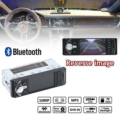 "4.1"" 1Din Car Vehicle Bluetooth FM MP3 MP5 Player Support Reverse Image"