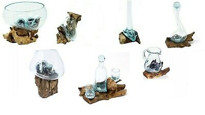 AW Range Molten Glass on Teak Wood Hanging & Standing Home Decoration : Unique