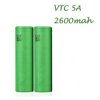 2x For Sony 18650 VTC5A 3.7v 2600mAh 30A HIGH DRAIN Li-ion Rechargeable Battery