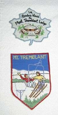 Two Vintage  Mt. Tremblant Ski Patches Quebec Canada Look!