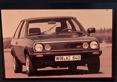 Vintage Retro Photo Slide Negatieve Dia VW Polo Coupe GT 1982 Europe Germany