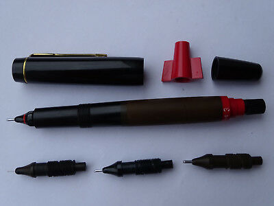 -- ROTRING RAPIDOGRAPH N° 3 Tuschefüller --- PISTON FILLER PEN --- USED
