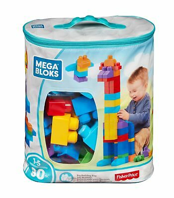 Portable Pvc First Builders Big Building Classic 80 Piece Kids Toy New