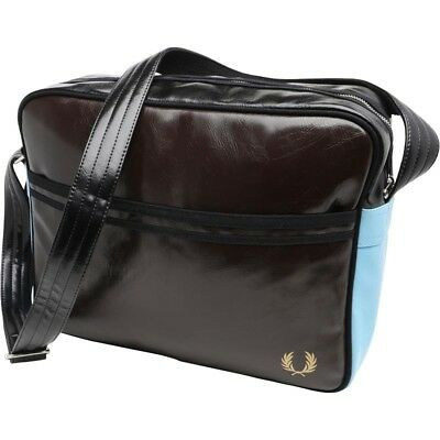 Fred Perry Women's Quality Shoulder Bag Dark Brown RRP £60 Bid Now Unique REAL