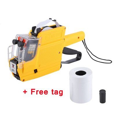 MX-6600 2-line Price Tag Gun Labeler Labeller + 5 White labels + free gift US-MA