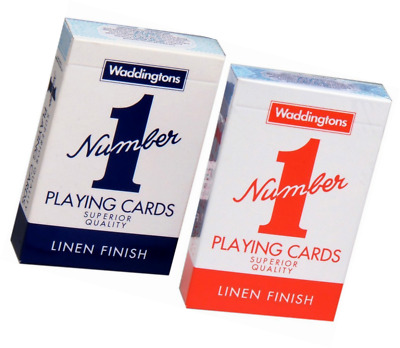 2 X New Decks of Waddington No1 Classic Playing Cards Red & Blue