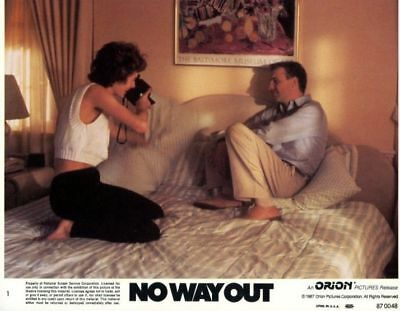 NO WAY OUT - 1987 - Original 8x10 Lobby Card Set - 8 NM Cards - KEVIN COSTNER