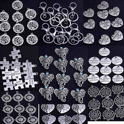 10X Wholesale Lot Tibetan Silver Charms Pendant DIY Jewellery Finding Crafts New
