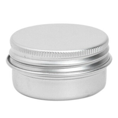 1 x Empty Cosmetics Pot Lip Balm Tin Jar Container screw 50ml S4F3
