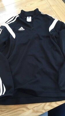 Boys Black Climacool Long Sleeved Training Top By Adidas Age 12