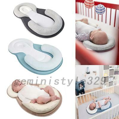 NEW Baby Anti-Roll Pillow Cushion Prevent Flat Head Sleep Nest Pod 3 Colors