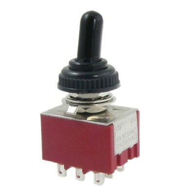 AC 250V 2A 125V 5A ON/ON 2 Position 3PDT Toggle Switch with Waterproof Boot F1Q1