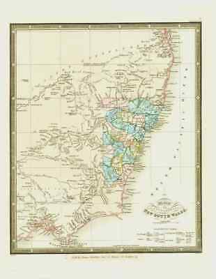 New South Wales - Australia - Settlements - Stockley - Map - James Wyld