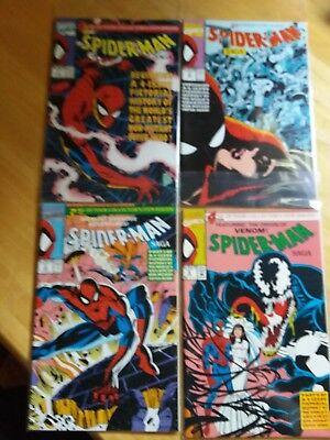 Spider-Man Saga #1-4 Collectors Item Issues. 1991 Pictorial History Of Spidey.