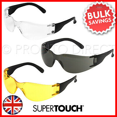 Safety Glasses Specs Spectacles EN166 Clear Smoke Yellow Anti-Scratch Lens
