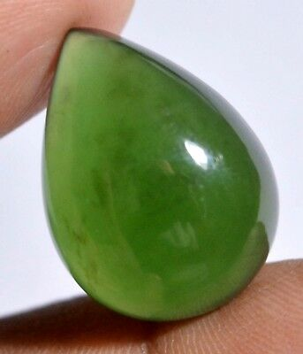 19.30 Ct Natural Green Serpentine GGL Certified Untreated Cabochon Loose Gem