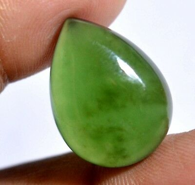 14.75 Ct Natural Green Serpentine GGL Certified Untreated Cabochon Loose Gem