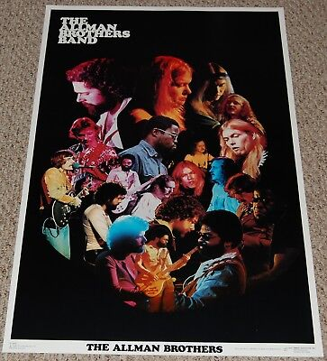 THE ALLMAN BROTHERS BAND Collage Poster 1976 Dargis 3425 Gregg Southern Rock