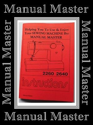 TOYOTA 2260 & 2640 Free Arm ZigZag Sewing Machine Instruction Manual Booklet
