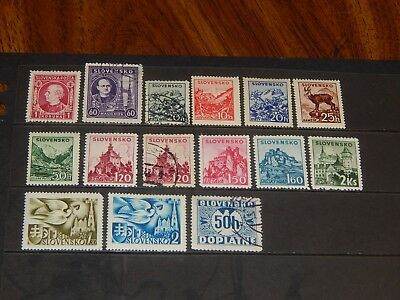 Slovakia stamps for sale - 15 mint hinged & used stamps - nice group !!