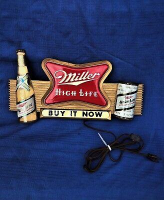 Miller High Life Beer Vintage Sign