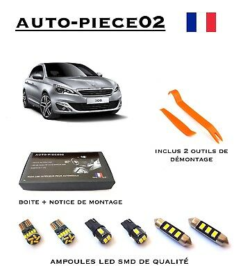 Pack FULL LED intérieur pour Peugeot 308 II ( Version light )