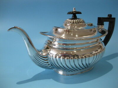 Extremely Beautiful Large Antique Silver Plated Victorian Ornate Panel Tea Pot