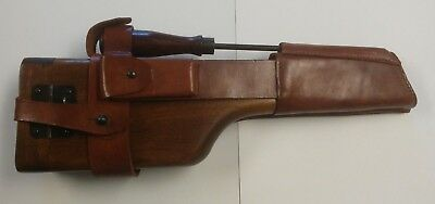 Mauser C-96 Broomhandle Stock w/ Leather Harness and Cleaning Rod