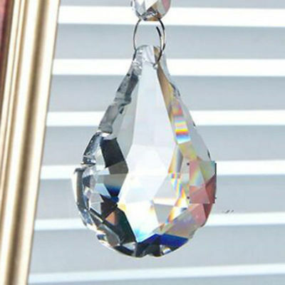 Only Clear Shui Drops Pendants 50mm Crystal Prism Feng Suncatcher Hanging Sector
