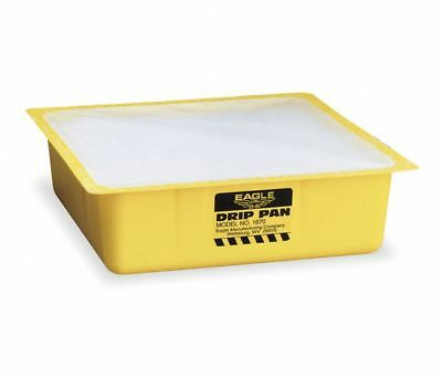 """EAGLE Polyethylene Drip Pan,1670, 3"""" tall,10-1/2"""" wide and deep, Pack of 12, NEW"""