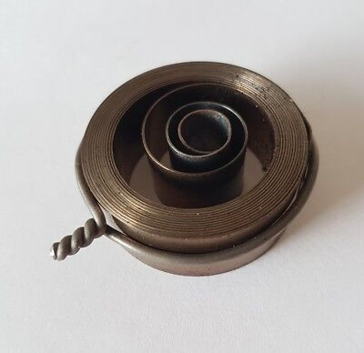 French & German Hole End Clock Mainspring Height 15mm Diameter 40mm Force 0.40