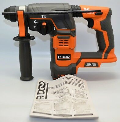 Ridgid 18-Volt Cordless 7/8 in. SDS-Plus Rotary Hammer (Tool Only) R86710 New