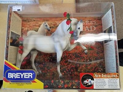 NEW COLLECTIBLE Bryer pony Horse RARE White STALLION Robert Vavra's MAJASTED