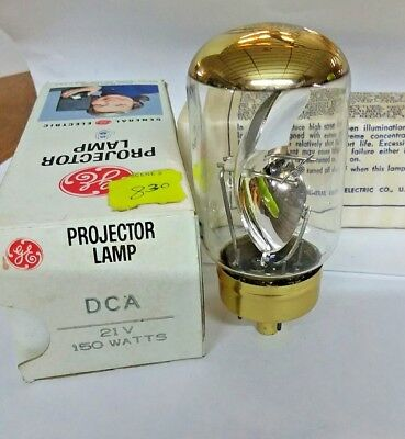 GE DCA Projector Lamp Bulb 21V 150 Watts  New Old Stock