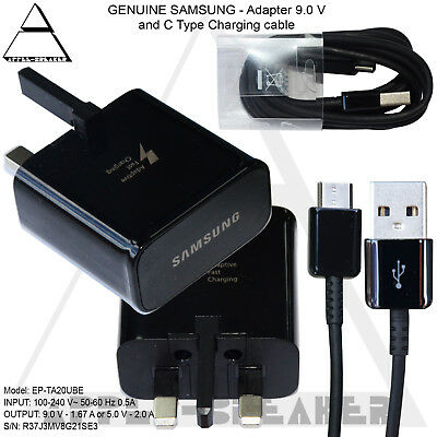 Genuine Fast Charger Adapter & USB Type C Charging Cable Samsung Galaxy Phones