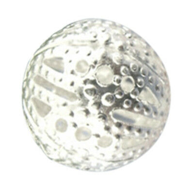50Pcs Silver Filigree Ball Spacer Beads 12mm Dia D1F8