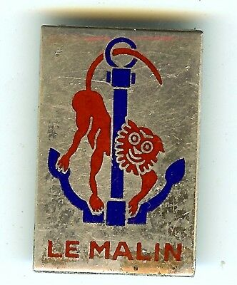 French Navy destroyer LE MALIN insignia