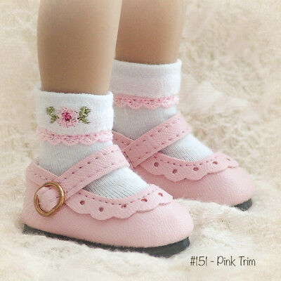 """Doll Socks for 13"""" Little Darling Effner, My Meadow Avery - A-151-Pink"""