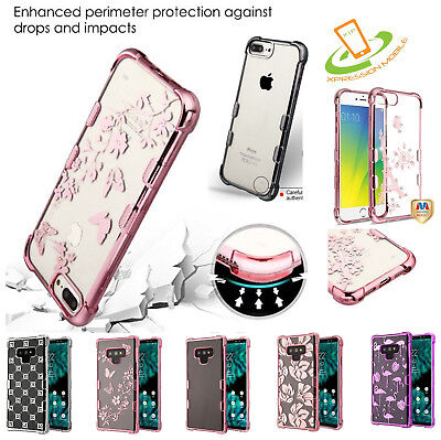 Shockproof Case For Samsung Galaxy Note 9 Bling Hybrid Rubber Silicone TPU Cover