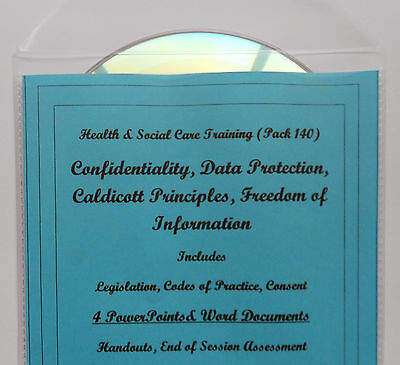 2018 CONFIDENTIALITY, Data Protection Health and Social Care Training Course CD