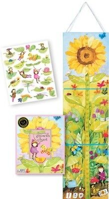 "eeboo ""Growing Like a Sunflower"" Growth Chart Interactive with Stickers"