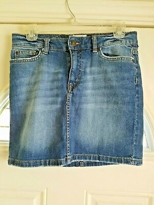 4cc0444977 L.O.G.G H&M Women's Size 6 Denim Jean Skirt Distressed Medium Wash Straight