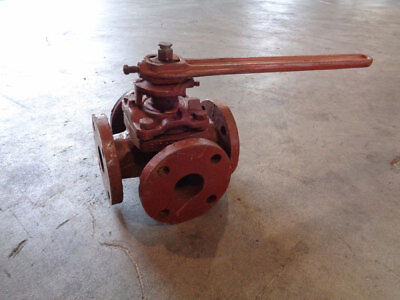 "Nordstrom 4-Way 1-1/2"" Flanged Plug Valve"