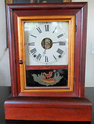 Old 1800S Antique Seth Thomas Mantle Shelf Clock - 8 Day
