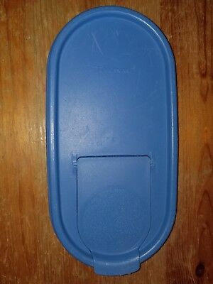 TUPPERWARE Modular Mates Blue Oval Replacement Lid Pour All #1617 HW