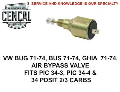 VW BUG BUS GHIA AIR BYPASS VALVE 1971-1974 34 PIC 3 CARBS  049129412C