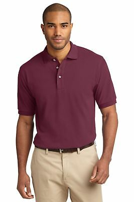 New Dickies Men's Short Sleeve Pique Polo Shirt -Burgundy (Maroon) S/L/XL/2XL