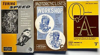 Rare Vintage Collectible Motorcycle Manuals 3 Books Clymer Bagnall