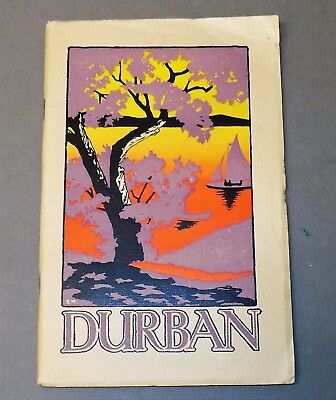 Vintage travel guide DELIGHTFUL DURBAN, SOUTH AFRICA seaside resort 1926 history
