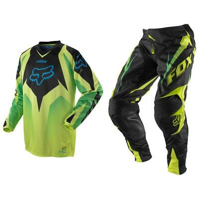 Fox Racing HC Race 360 Vibron Off Road MX Gear Set Black Green Fade Large / 32
